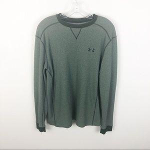 Under Armour Shirt Green Cold Gear Long Sleeve